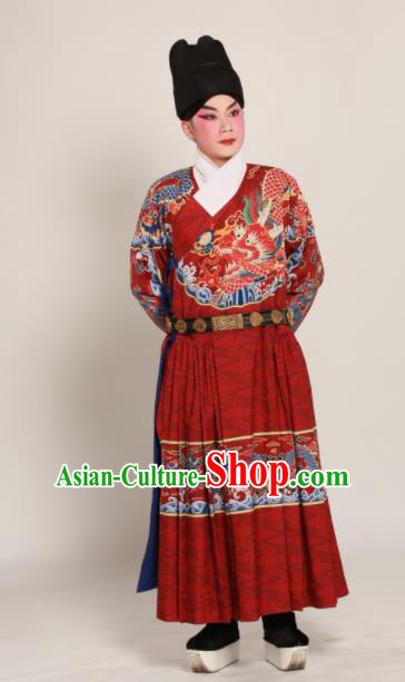 Traditional Chinese Ming Dynasty Imperial Guards Clothing Ancient Blades Embroidered Costumes for Men