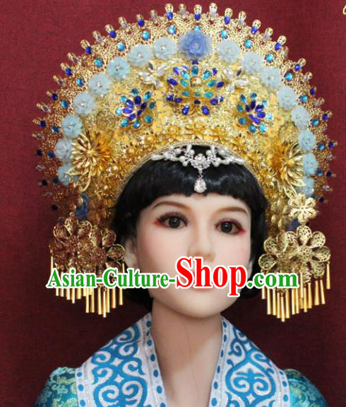 Chinese Handmade Tang Dynasty Queen Phoenix Coronet Ancient Court Hair Accessories for Women