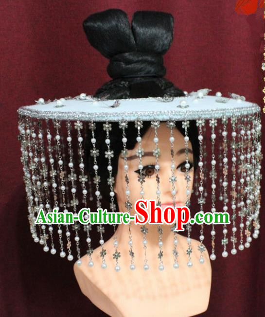 Chinese Traditional Tang Dynasty Swordswoman Hats Ancient Imperial Bodyguard Hat for Women