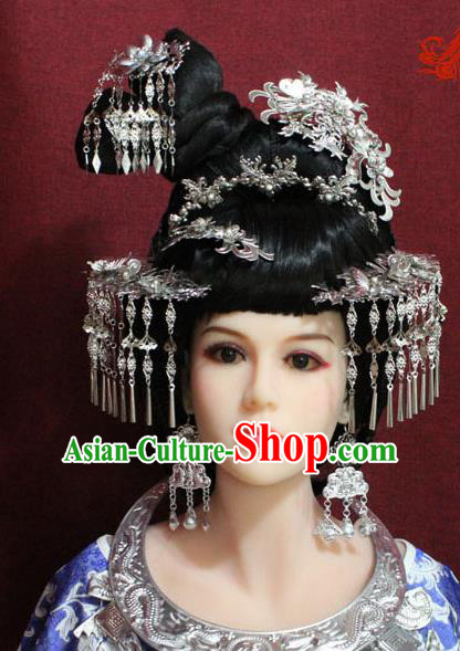Chinese Handmade Hairpins Phoenix Coronet Ancient Bride Hair Accessories for Women