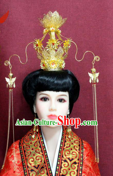 Chinese Handmade Queen Phoenix Hairpins Ancient Imperial Consort Hair Accessories for Women