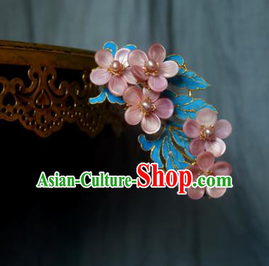 Chinese Handmade Princess Pink Flowers Hairpins Ancient Hair Stick Hair Accessories for Women