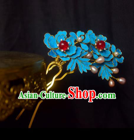 Chinese Handmade Princess Blueing Hairpins Ancient Hair Clip Hair Accessories for Women