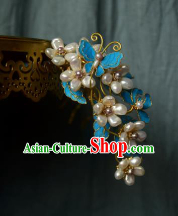 Chinese Handmade Princess Hairpins Ancient Pearls Hair Claw Hair Accessories for Women