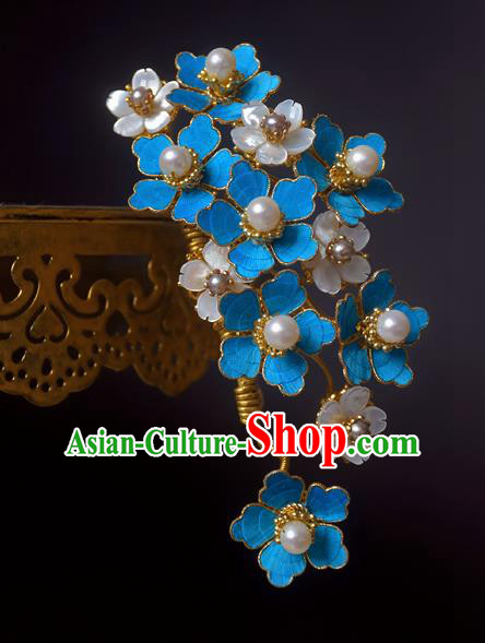 Chinese Handmade Princess Hanfu Flowers Hair Claw Hairpins Ancient Hair Accessories for Women