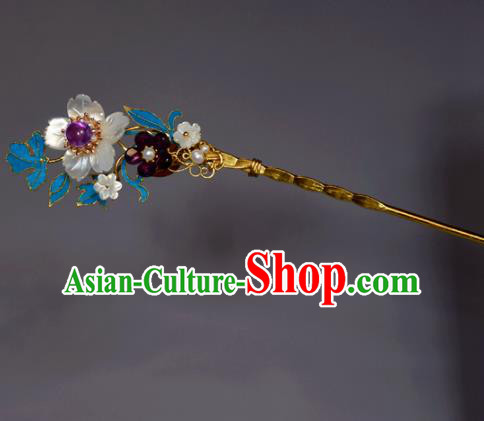 Chinese Ancient Qing Dynasty Hair Accessories Handmade Hairpins for Women