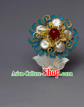 Chinese Ancient Qing Dynasty Shell Hair Comb Hair Accessories Handmade Hairpins for Women