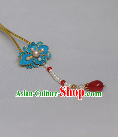 Chinese Handmade Princess Hanfu Hairpins Tassel Hair Clip Ancient Hair Accessories for Women