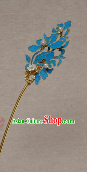 Chinese Qing Dynasty Princess Hairpins Hair Accessories Ancient Handmade Hanfu Hair Clip for Women