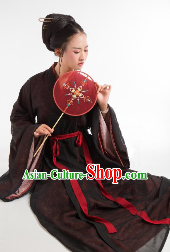Chinese Ancient Jin Dynasty Hanfu Dress Princess Embroidered Costumes for Women