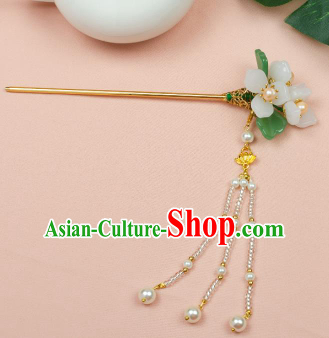 Chinese Ancient Hair Accessories Hanfu Tassel Flowers Hair Clip Handmade Hairpins for Women