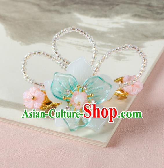 Chinese Ancient Hair Accessories Hanfu Flowers Hair Claw Handmade Hairpins for Women
