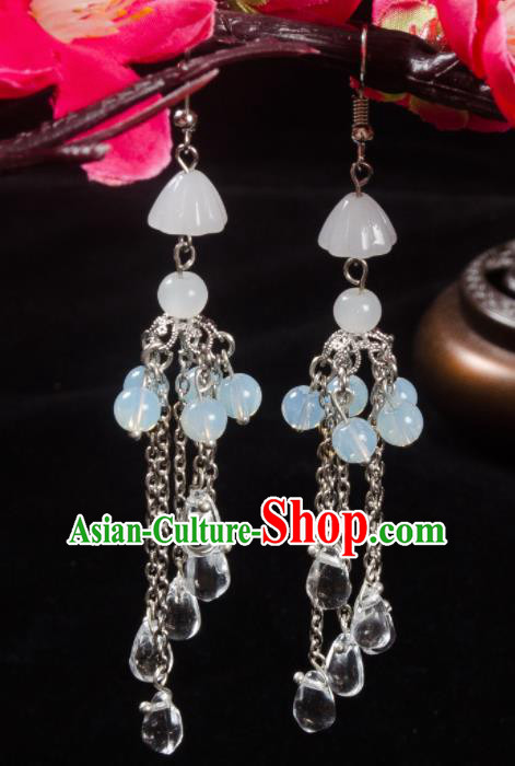 Asian Chinese Traditional Jewelry Accessories Hanfu Beads Earrings for Women