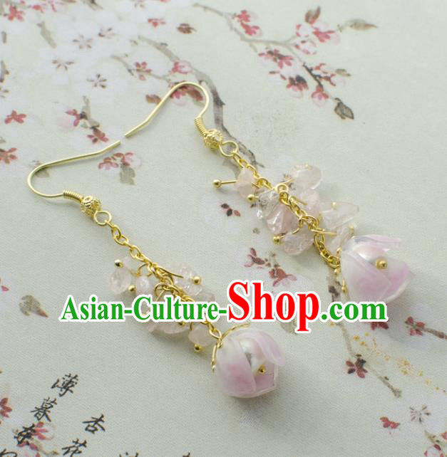Asian Chinese Traditional Jewelry Accessories Hanfu Flowers Earrings for Women