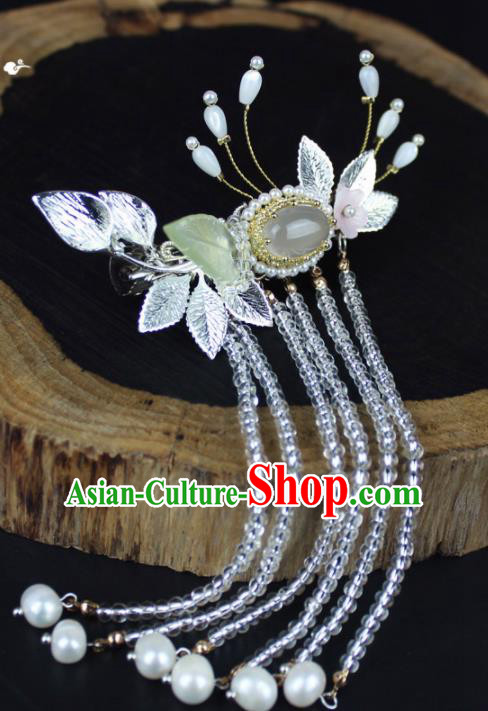 Chinese Ancient Handmade Palace Hanfu Hairpins Hair Accessories Tassel Hair Claws for Women