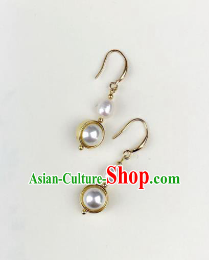 Top Grade Chinese Jewelry Accessories Wedding Hanfu Pearl Earrings for Women