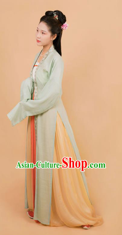Top Grade Chinese Ancient Song Dynasty Princess Hanfu Dress for Women