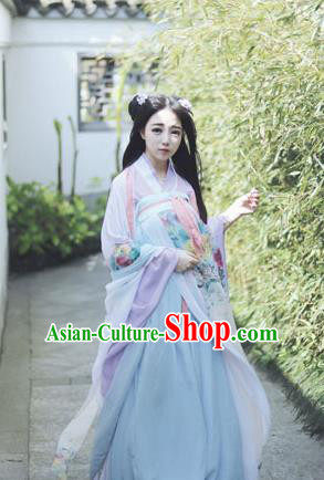 Chinese Cosplay Ancient Fairy Costumes Traditional Tang Dynasty Princess Hanfu Dress for Women