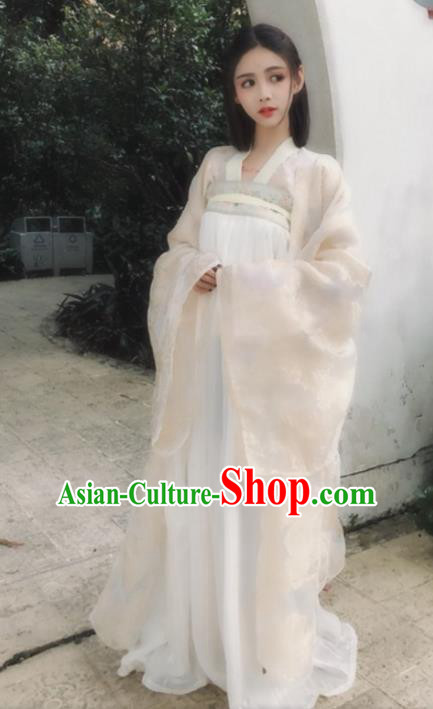 Chinese Ancient Fairy Costumes Traditional Tang Dynasty Princess Hanfu Dress for Women