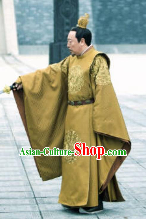The Rise of Phoenixes Ancient Imperial Robe Chinese Tang Dynasty Emperor Costumes for Men