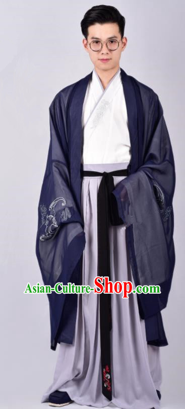 Chinese Ancient Swordsman Clothing Traditional Ming Dynasty Cabinet Minister Costumes for Men