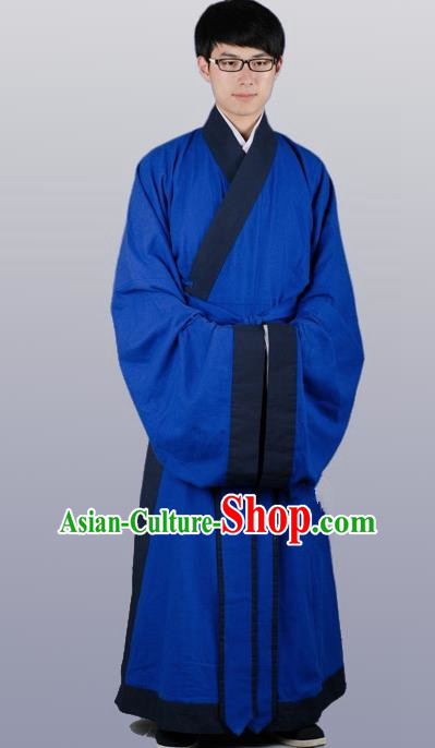 Chinese Ancient Traditional Priest Frock Ming Dynasty Priest Costumes for Men