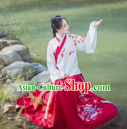 Chinese Ancient Hanfu Dress Traditional Ming Dynasty Princess Costume for Women