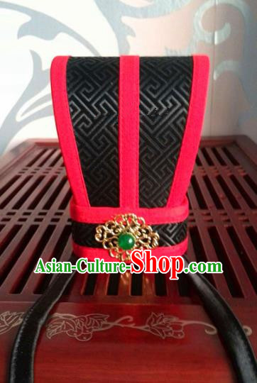 Traditional Chinese Ancient Minister Hairdo Crown Han Dynasty Official Headwear for Men