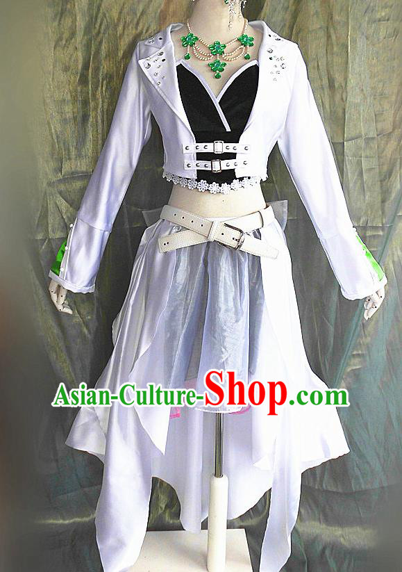 Asian Chinese Cosplay Young Faery Costume Ancient Swordswoman Dress for Women