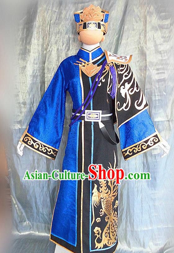 Asian Chinese Cosplay Customized Warriors Taoist Costume Ancient Swordsman Clothing for Men