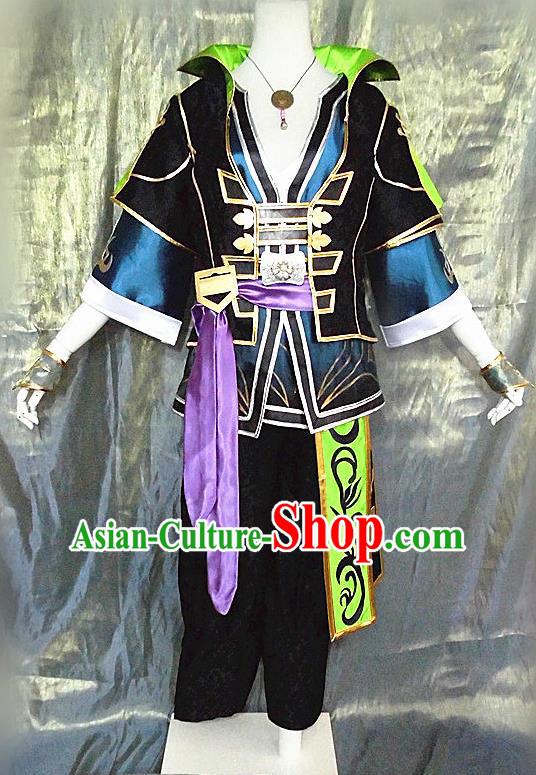 Asian Chinese Cosplay Customized Warrior Costume Ancient Swordsman Clothing for Men