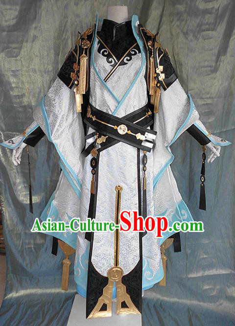 Asian Chinese Cosplay Customized Royal Highness Costume Ancient Swordsman Clothing for Men