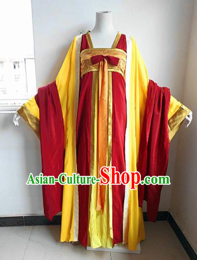 Asian Chinese Cosplay Princess Costume Ancient Peri Red Dress for Women