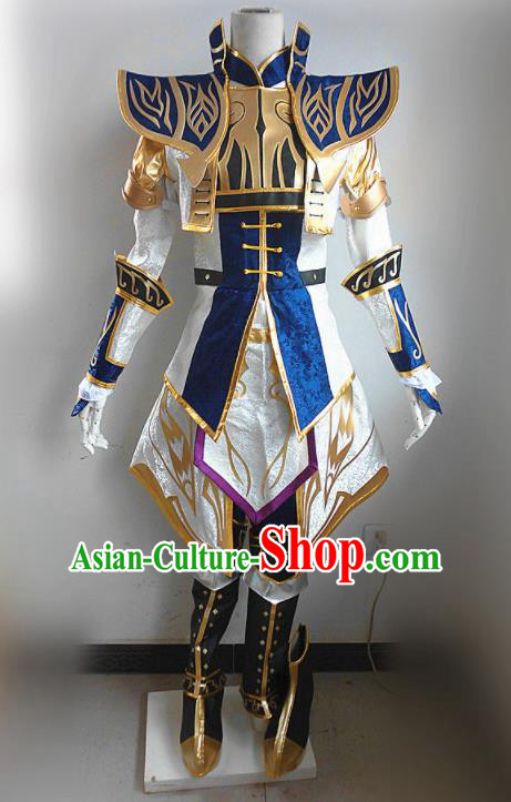 Asian Chinese Cosplay General Customized Costume Ancient Swordsman Clothing for Men