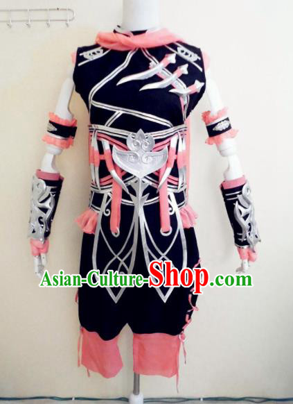 Asian Chinese Cosplay Female Castellan Costume Ancient Swordsman Clothing for Women