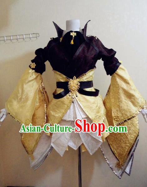 Asian Chinese Cosplay Female Knight Costume Ancient Swordsman Clothing for Women