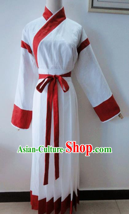 Traditional Chinese Jin Dynasty White Hanfu Dress Ancient Princess Costume for Women
