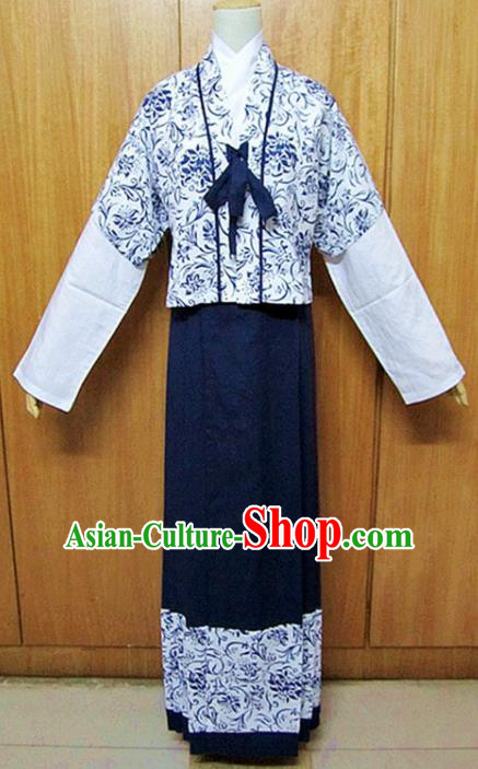 Traditional Chinese Song Dynasty Hanfu Dress Ancient Fairy Costume for Women