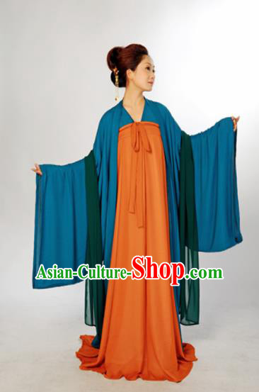 Chinese Traditional Tang Dynasty Maidenform Hanfu Dress Ancient Nobility Lady Costume for Women