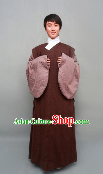 Chinese Ancient Traditional Ming Dynasty Swordsman Costumes Taoist Robe for Men