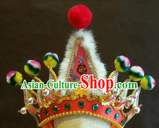 Traditional Chinese Beijing Opera Hair Accessories Percussion Hat for Men