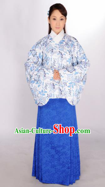 Asian Chinese Traditional Ming Dynasty Nobility Lady Clothing Ancient Maidenform Costumes for Women