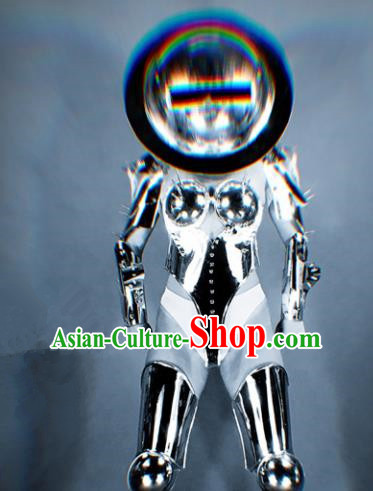 Professional Stage Performance Costume Halloween Cosplay Aliens Clothing and Headwear for Women