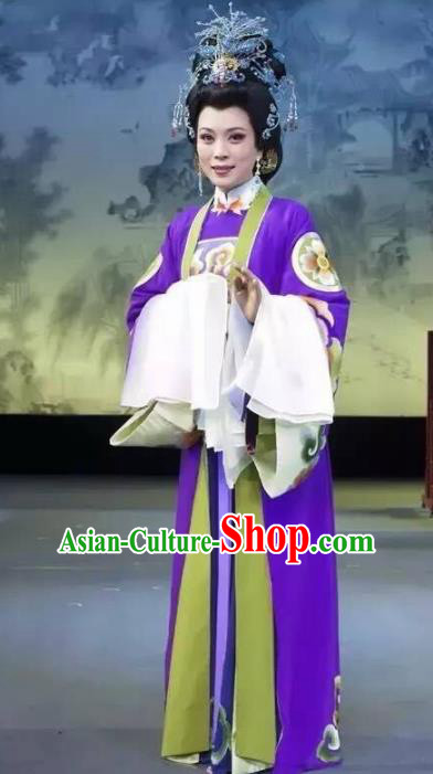 Chinese Beijing Opera Pantaloon Embroidered Costume Ancient Dowager Countess Hanfu Dress for Women