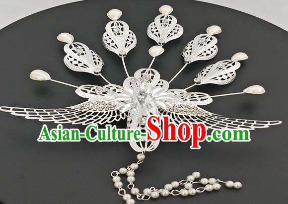 Chinese Ancient Bride Hair Accessories Queen Phoenix Hairpins for Women