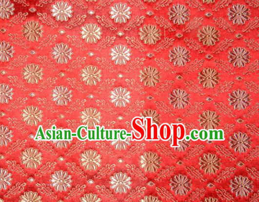 Classical Pattern Chinese Traditional Red Silk Fabric Tang Suit Brocade Cloth Cheongsam Material Drapery