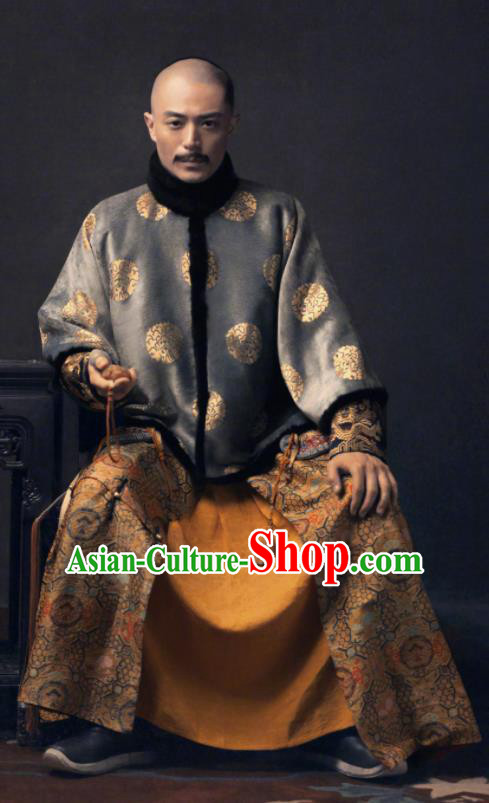 Ancient TV Ruyi Royal Love in the Palace Chinese Qing Dynasty Emperor Embroidered Costumes for Men