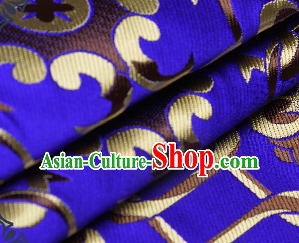 Chinese Traditional Tang Suit Royalblue Brocade Fabric Silk Cloth Cheongsam Material Drapery