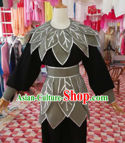 Chinese Traditional Beijing Opera Takefu Costume Nezha Lotus Clothing for Adults
