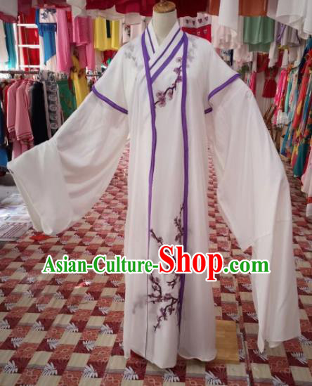 Chinese Traditional Beijing Opera Niche Costume Peking Opera Scholar White Clothing for Adults
